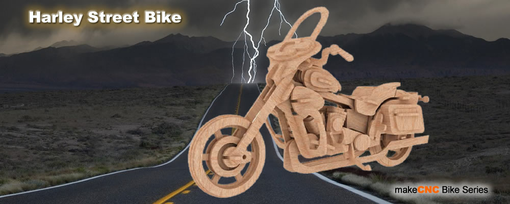 Motorcycle Laser Cut Toy Patterns