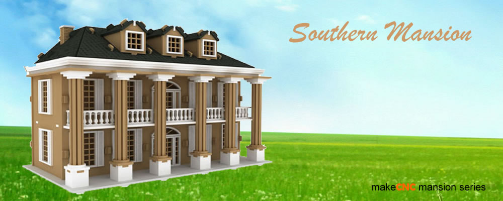 Laser cut doll house patterns Southern mansion house plans