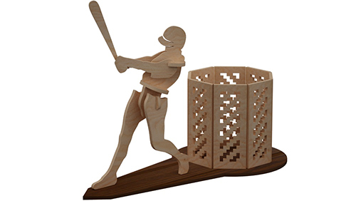 American Baseball Pen Holder Pen Holders Makecnc Com