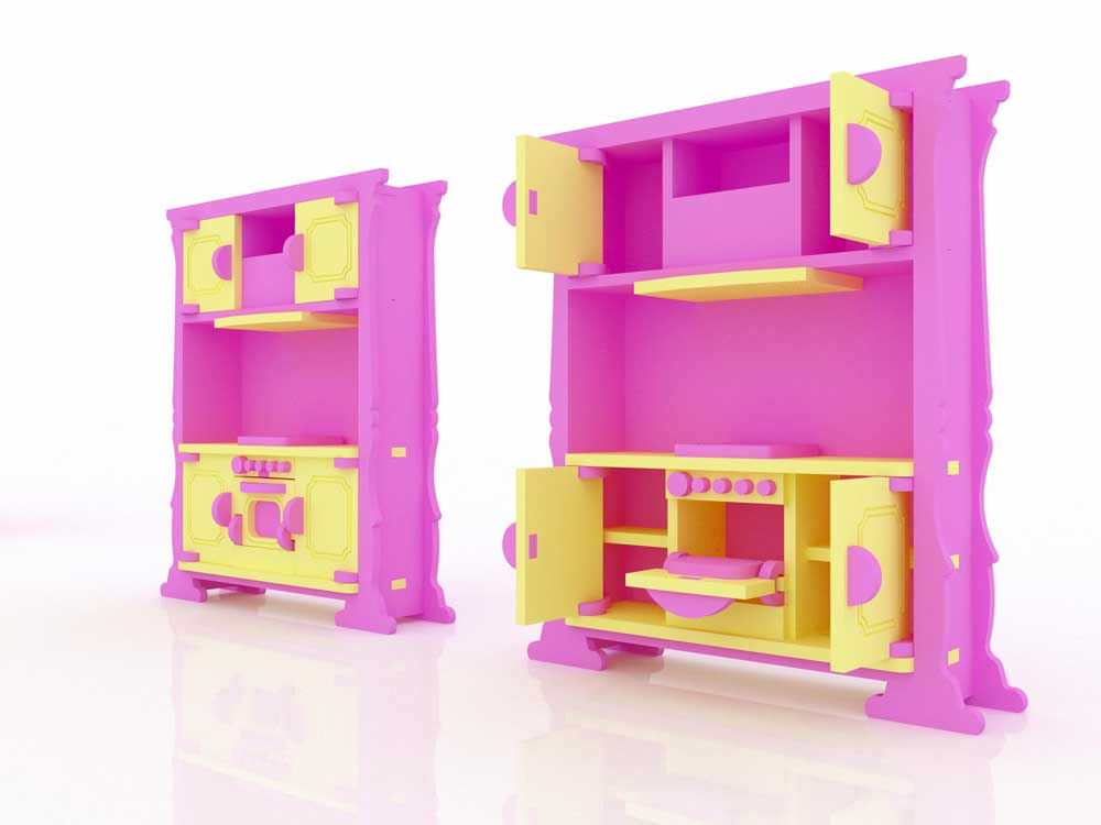 Barbie Kitchen Cabinets (Barbie Scale Size) - Barbie Scale Houses ...