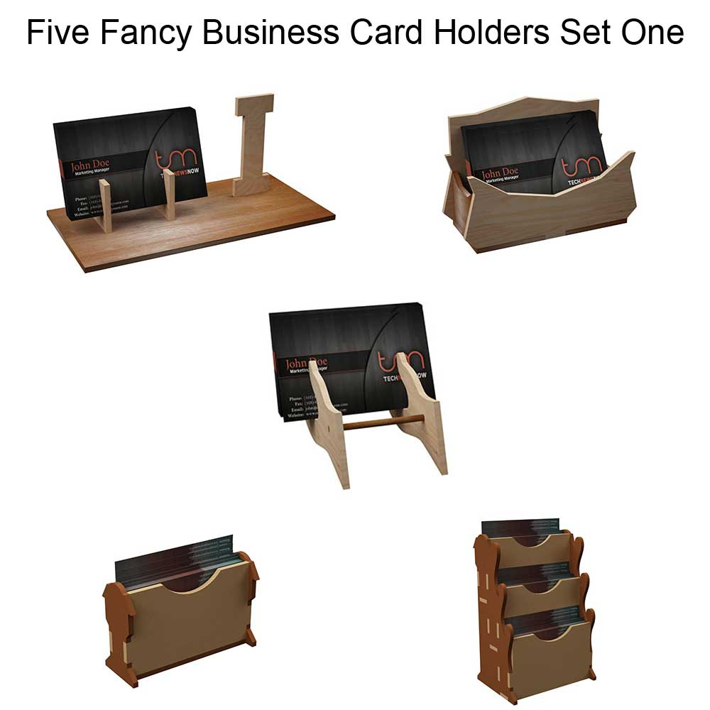 Fancy Business Card Holders Set One - Cardholders | MakeCNC.com