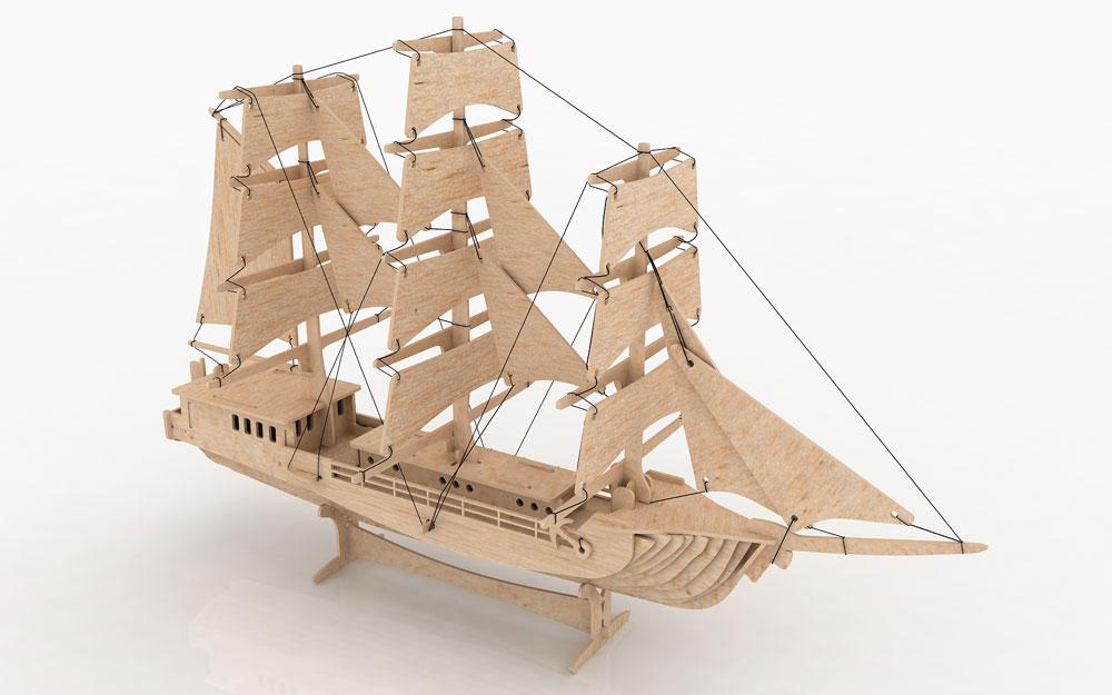 Clipper Ship (Sailing Ship) - Ships & Boats | MakeCNC.com