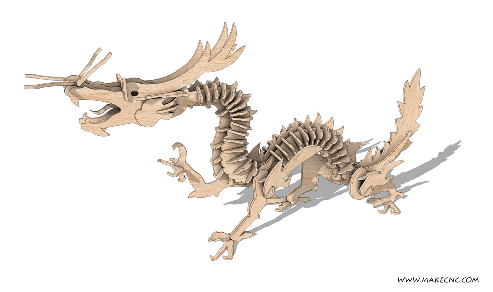 Chinese Dragon Tien Lung - Mythical | MakeCNC.com
