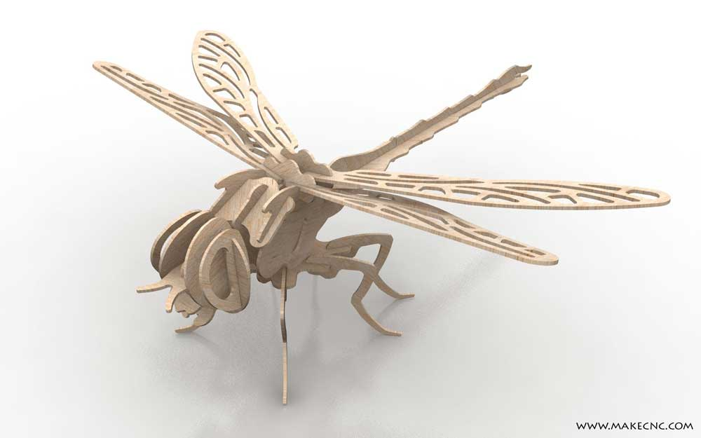 Dynamic Dragonfly Insects Makecnc Com