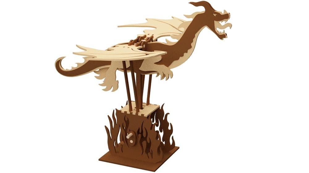 The Flying Dragon Automata Automata Amp Engines Makecnc Com