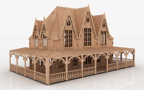 Fairytale Villa Mansions Makecnc Com