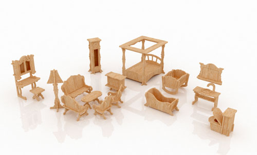 New Dollhouse Furniture Set One
