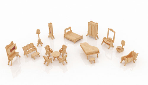 New Dollhouse Furniture Set Two