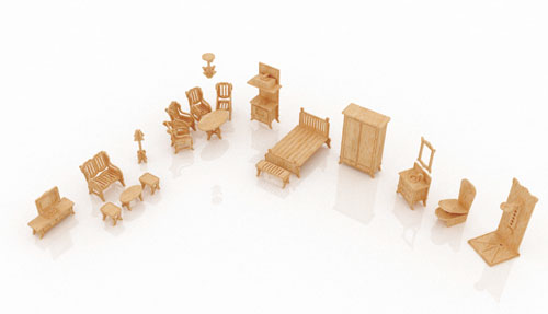 New Dollhouse Furniture Set Three