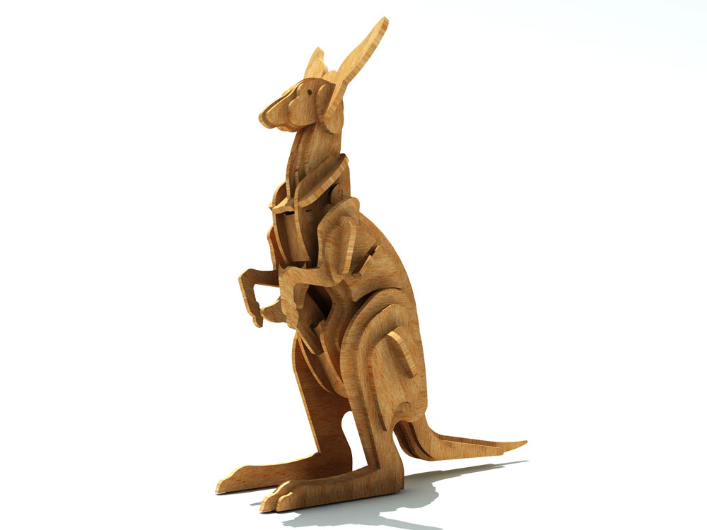 The Australian Kangaroo - Wild | MakeCNC.com
