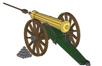 Napoleon Civil War Cannon (Rubber Band Powered Cannon)