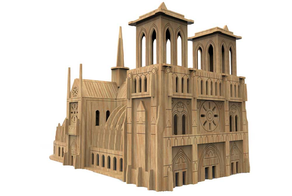 Notre Dame Cathedral Other Structures Makecnc Com