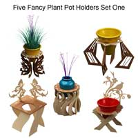 Fancy Plant Potholders Set One