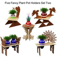 Fancy Plant Potholders Set Two