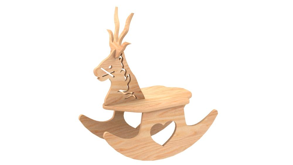 Reindeer Rocker Christmas Pattern Misc Holiday Items Makecnc Com