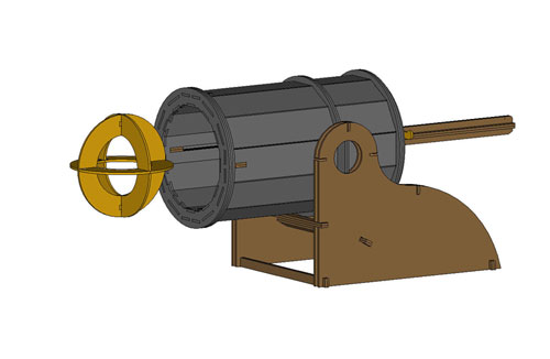Medieval Mortar Cannon (Rubber Band Powered Cannon)