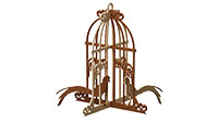 Caged Bird Pair Deco