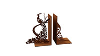 Fantail Peacock Bookends