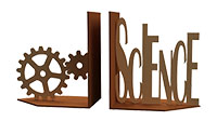 Science Cogs Bookends