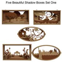 Beautiful Shadow Boxes Set One