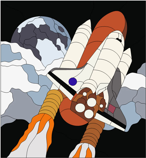 3D Space Shuttle Printable Patterns - Pics about space