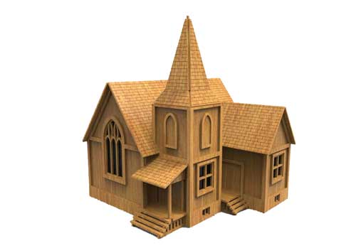 Alabama Church (HO Scale)