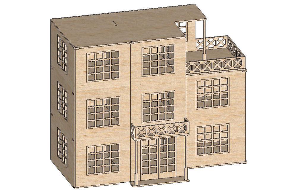 The Art Deco Dollhouse Mansions Makecnc Com