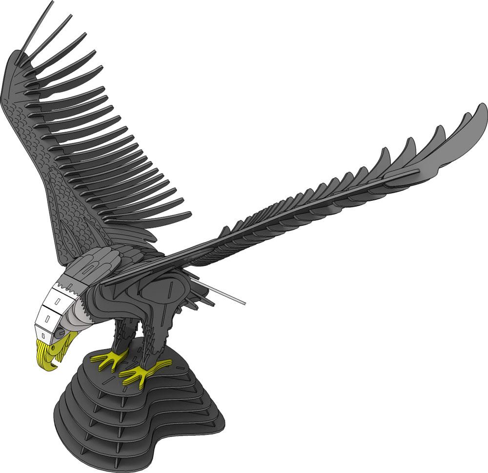 Bald Eagle Landing - Birds | MakeCNC.com