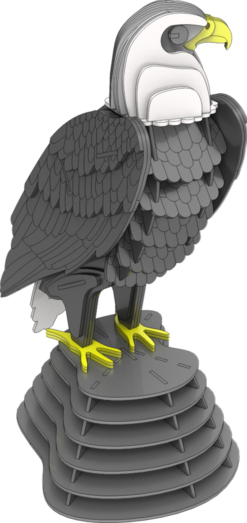 Bald Eagle Standing Proud - Birds | MakeCNC.com