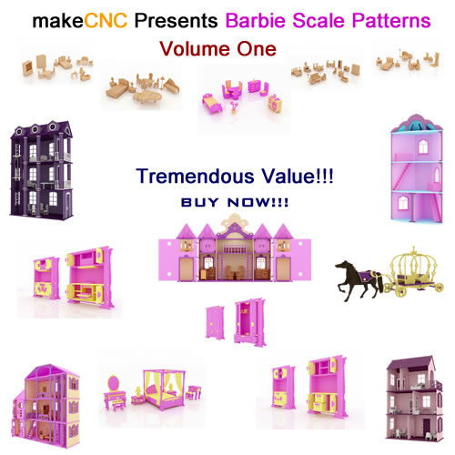 Barbie Scale Patterns Volume One (MakeCNC)
