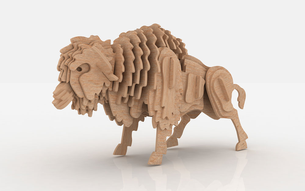 The Buffalo Or American Bison Wild Makecnc Com