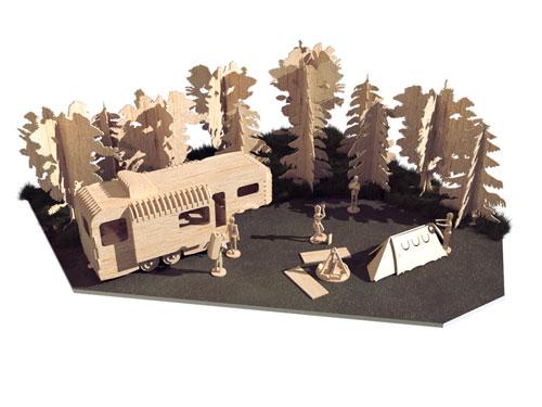 Camping Trip Scene (Premium Model)