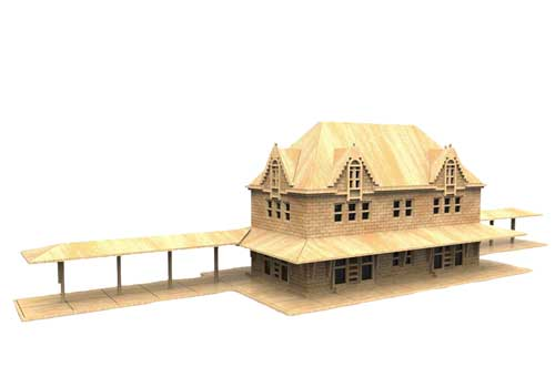 Delaware Central Station (HO Scale)