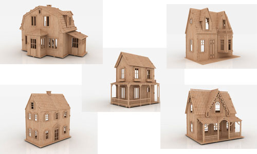 Little Princess Dollhouses Volume one Doll House Packs | MakeCNC.com ...