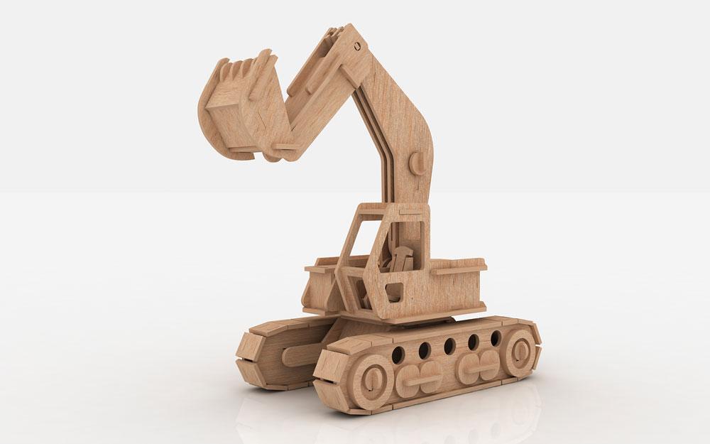 Excavator CAT - Heavy Machines   MakeCNC.com
