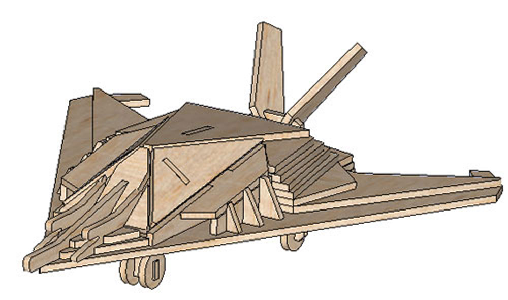 The F22 Stealth Fighter Aircraft Makecnc Com