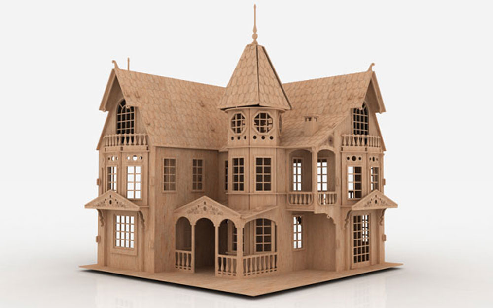 Fantasy mansion mansions for Victorian doll house plans