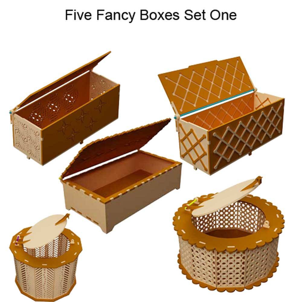 Five Fancy Boxes Set One Boxes Makecnc Com