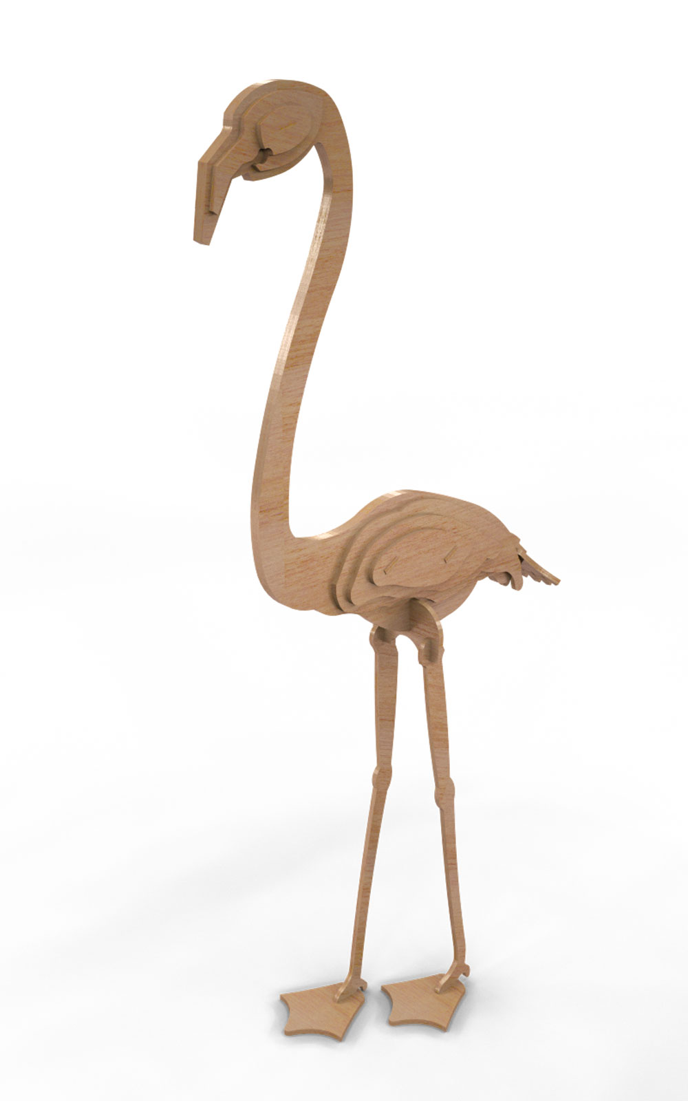 The Flamingo Two - Birds | MakeCNC.com