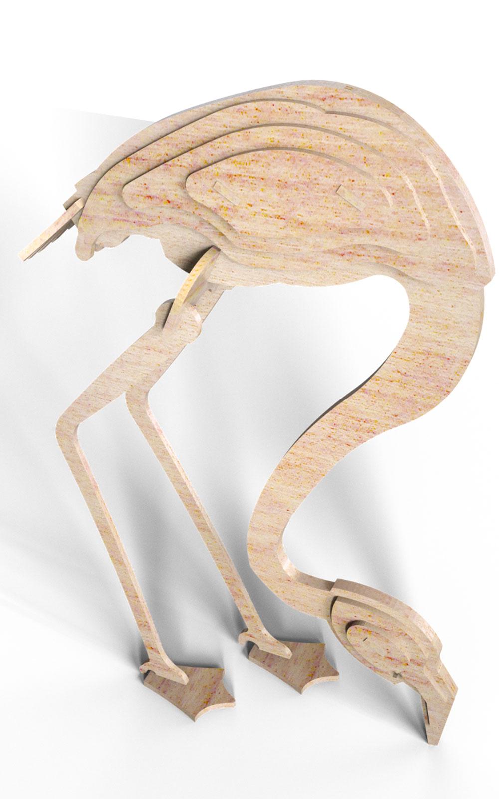 The Flamingo - Birds | MakeCNC.com