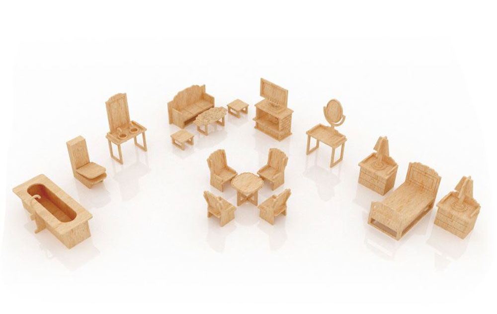 New Dollhouse Furniture Set Four. Zoom