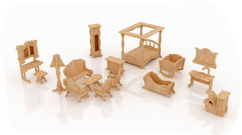 New Dollhouse Furniture Set One Discounts Applied to Prices at ...