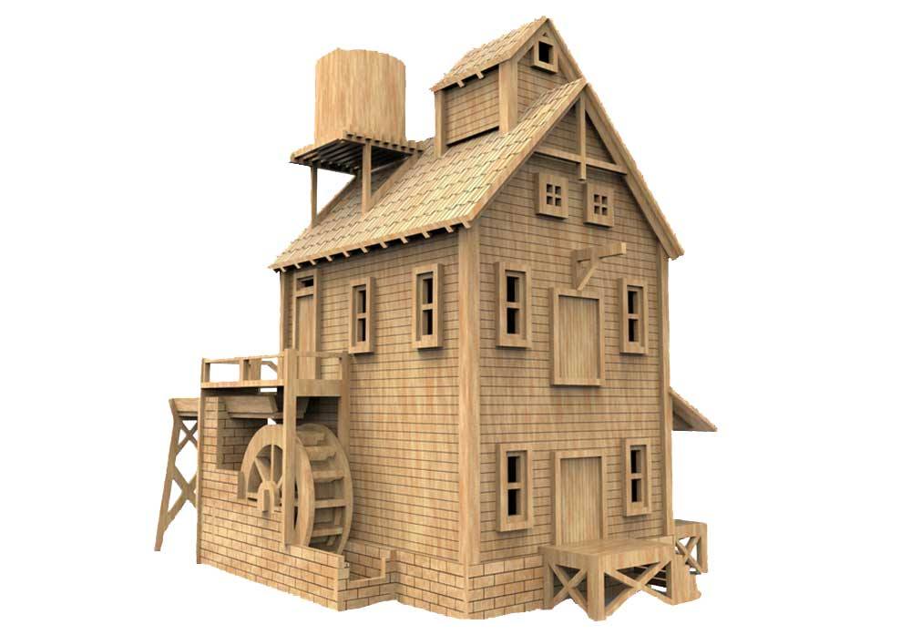Heims mill ho scale model railway - Printable ho scale building interiors ...