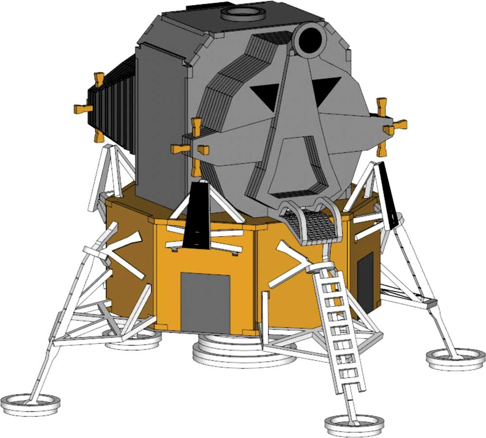 apollo spacecraft clipart - 1000×901