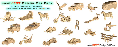 3D Puzzles makeMZST Design Pack