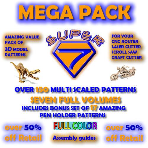 3d puzzles Super Seven Deluxe Mega Pack