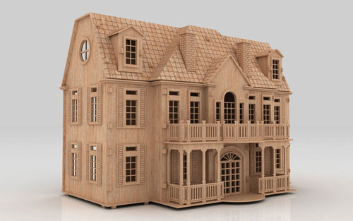 how to build a 3d cardboard house