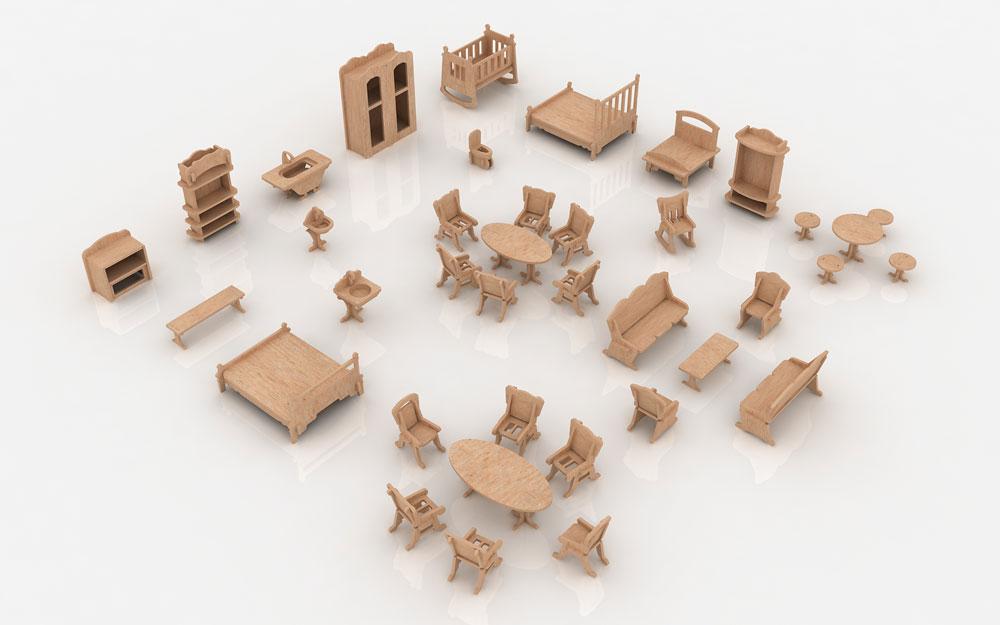 Mansion Furniture - Furniture   MakeCNC.com