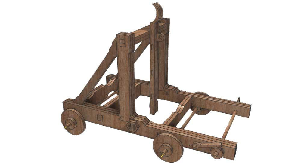 Medieval Catapult Siege Weapons Makecnc Com