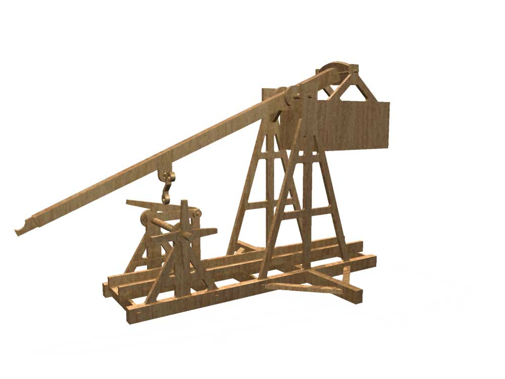 Medieval Trebuchet Siege Weapons Makecnc Com